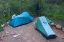 Bright Angel Campground at Phantom Ranch.