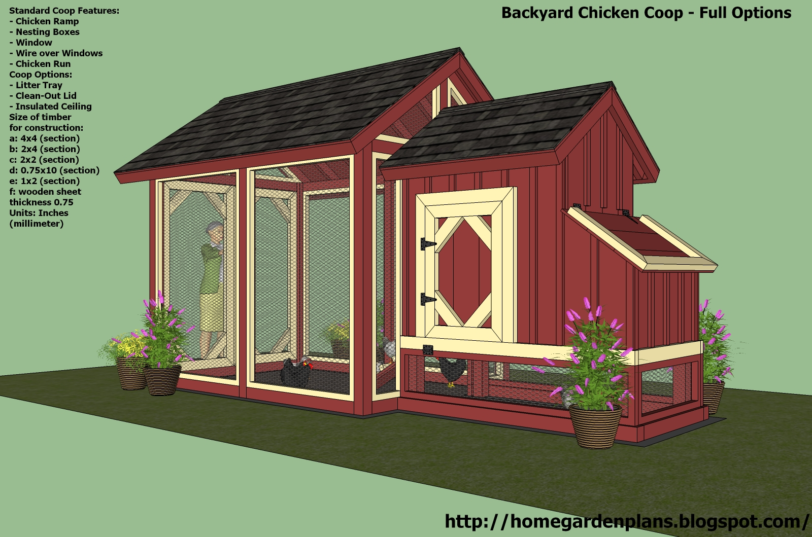 Chicken coop free construction plans tbn ranch chicken Home run architecture