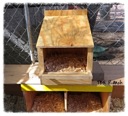 Nest Box with Perch for CHickens
