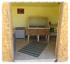 Built brooder shed