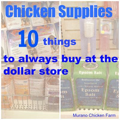 Chicken supplies collage