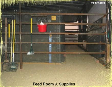 Feed Room & Supplies